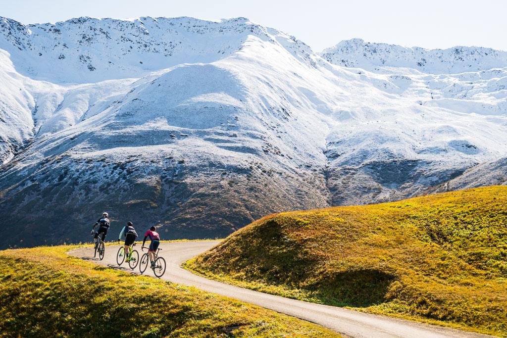 Gravel and road biking in Graubünden, Switzerland